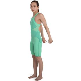 speedo Fastskin LZR Pure Valor Openback Kneeskin Girls green glow/nordic teal